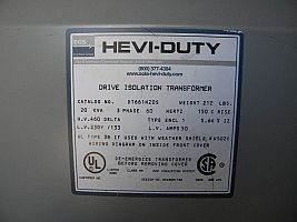 Transformer Spec Label