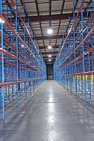 Prest Pallet Rack - looking down the aisle