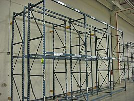 Sturdi-Built Pallet Rack in a Back-to Back Row Configuration