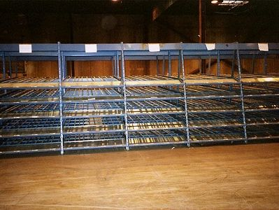 Kingway Carton Flow Rack - front view