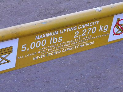 Ecoa Lift Table Warning Lable