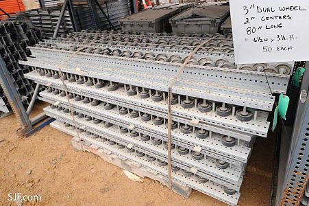 Lot 1: Dual Poly Wheel Pallet Flow