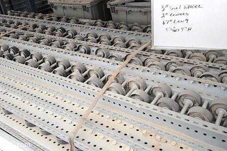 Lot 2: Dual Poly Wheel Pallet Flow