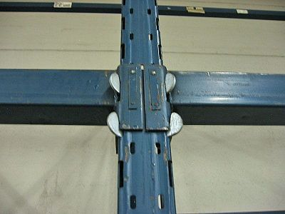 Close-up of Sturdi-Built Upright/Beam Connection