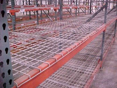 Wire Decking on a shelf
