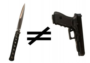 knife does not equal gun