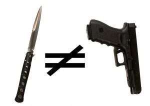 knife does not equal gun