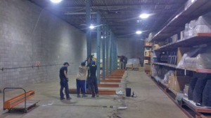 Dismantling cantilever rack in Charleston, SC.