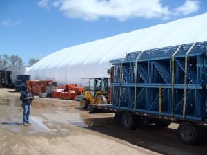 Shawn Heaver unloads a truckload of Keystone rack from Chattanooga, TN.