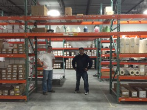 The new warehouse at Advantage Sign and Graphic Solutions.