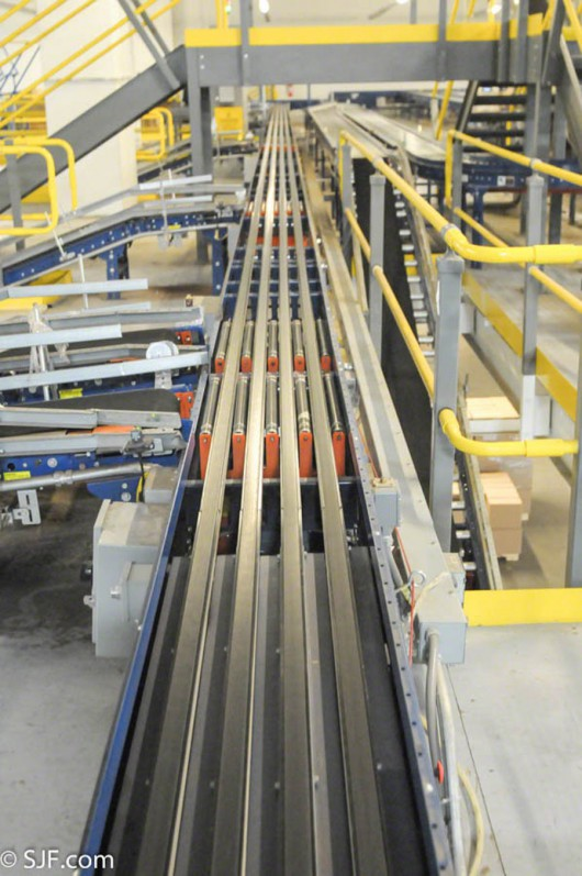Ermanco narrow belt sortation system