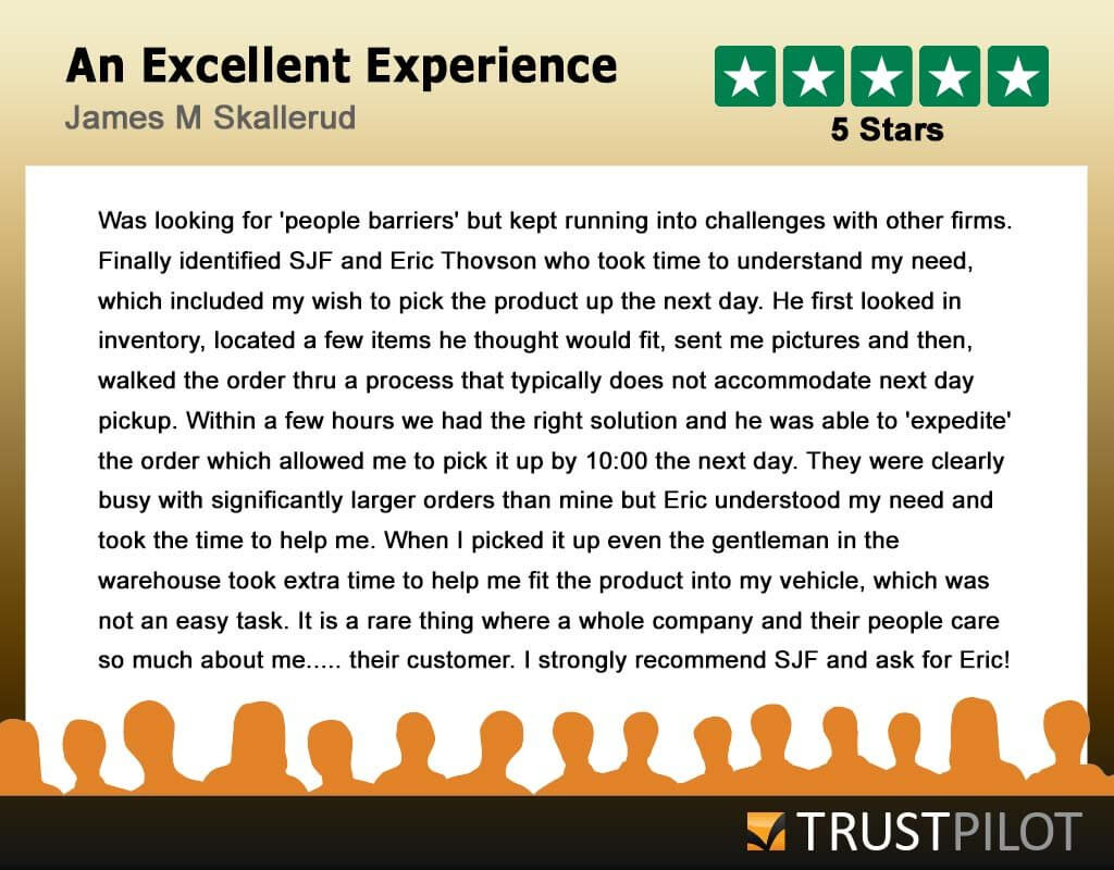 Trustpilot Review From James M. Skallerud
