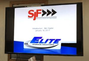 Meeting with Elite Storage Solutions rep.