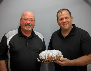 Vance (left) and Eric, otherwise known as ET (right) not only grilled for our hungry crowd but also shared their birthday cake. What a great couple of guys!