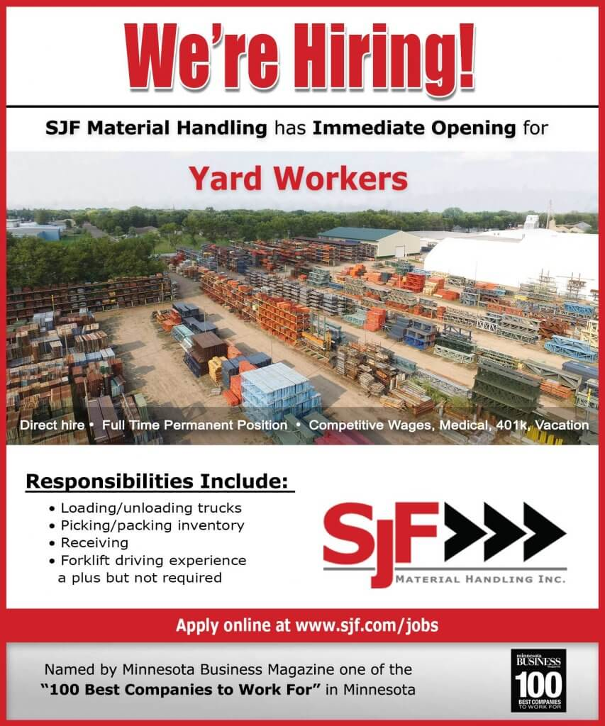 SJF is hiring Yard Workers