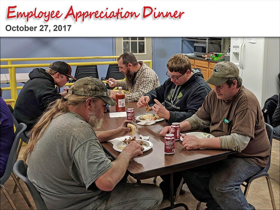 SJF's Employee Appreciation Dinner October 20, 2017
