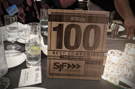 "SJF named one of the ""!00 Best Companies to Work For"" in Minnesota"