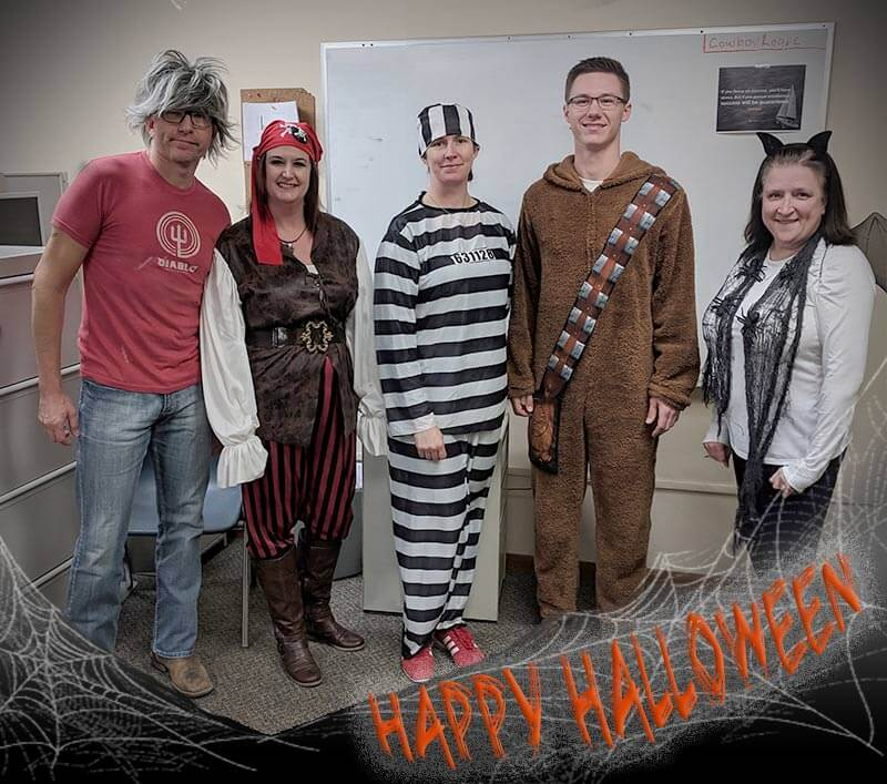 Happy Halloween From SJF! L to R: Jason Deiter, Denise Rosenau, Lori Bachel, Justin Erkenbrack and Rhonda Remer