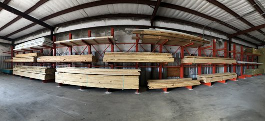 Lake Russell Building Supply Cantilever Set Up