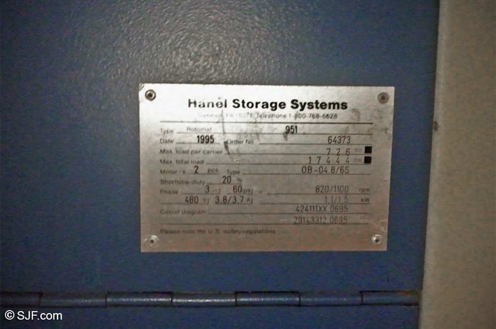 Hanel Manufacturers Plate