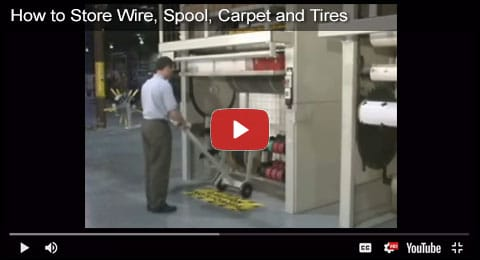 How to Store Wire, Spools, Carpet and Tires Video