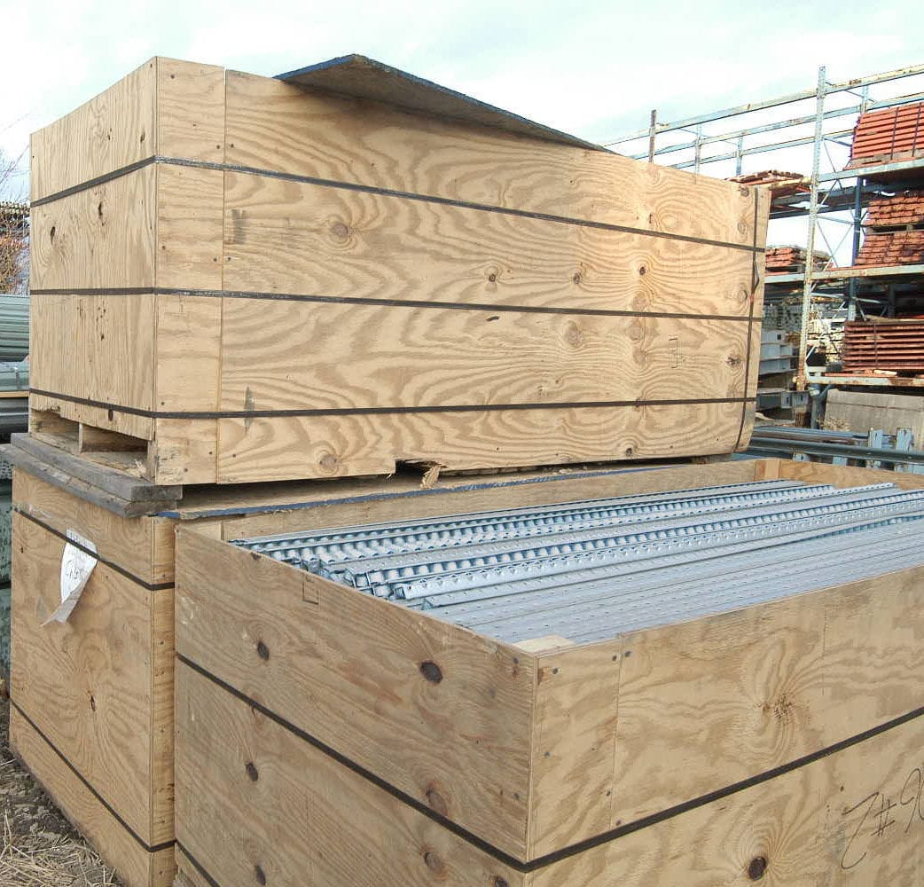 Kingway Carton Flow Roller Track - Packaged and Ready to Ship