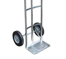 Steel P Handle Hand Cart Close-Up