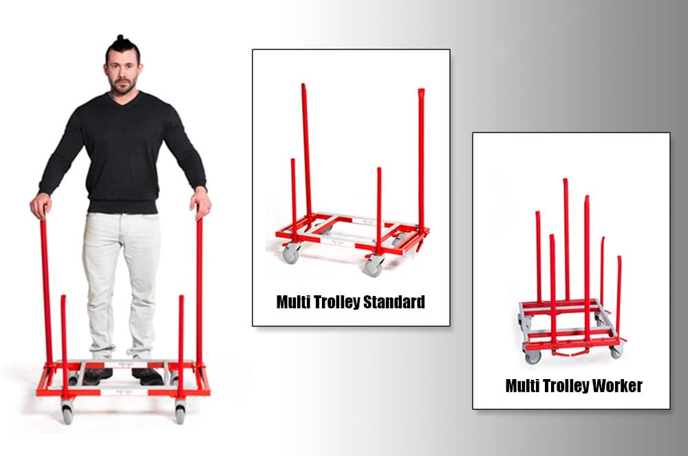 Multi Trolley Worker and Standard Moving Carts
