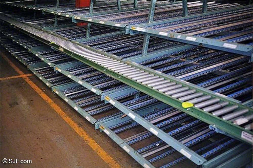 Used Carton Flow Rack | Gravity Flow Rack for Sale