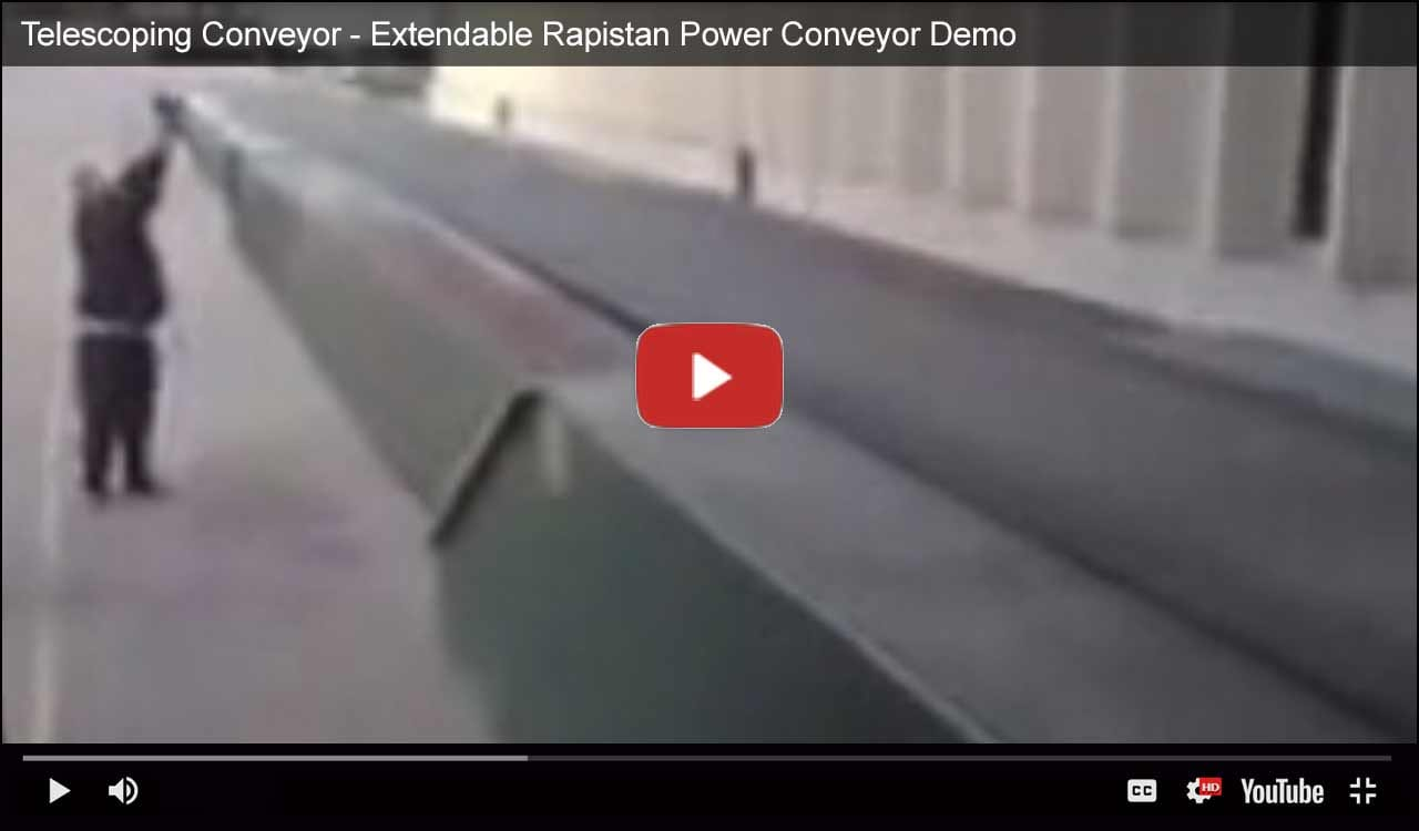 Telescoping Conveyor - Extendable Rapistan Power Conveyor Demo