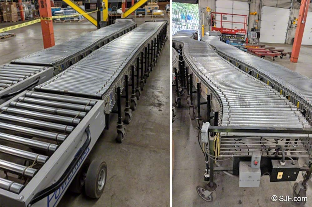 Best Flex Conveyor with PowerTrax Tugger