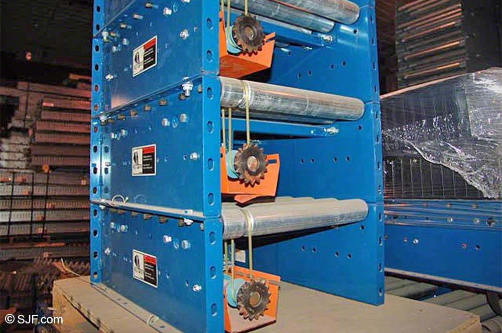 Lineshaft Powered Roller Conveyors New Amp Used Sjf Com