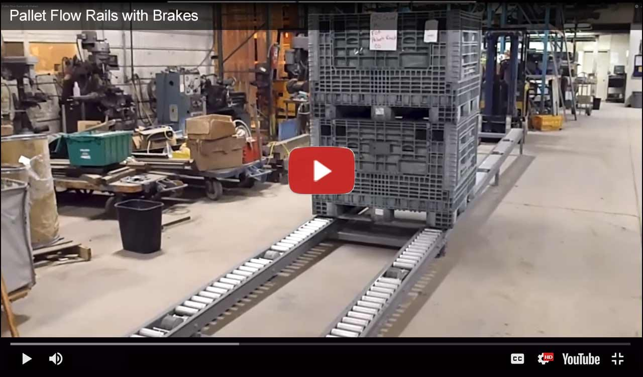 Gravity pallet flow racking systems demonstration