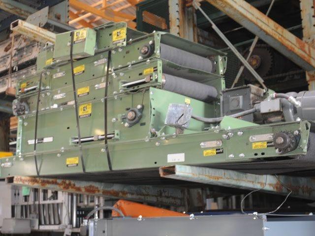 Buschman Belt Over Roller Conveyor Incline