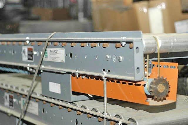 Ermanco Lineshaft Conveyor - End View