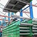 Used Rapistan Belt Over Roller Conveyor at SJF Material Handling