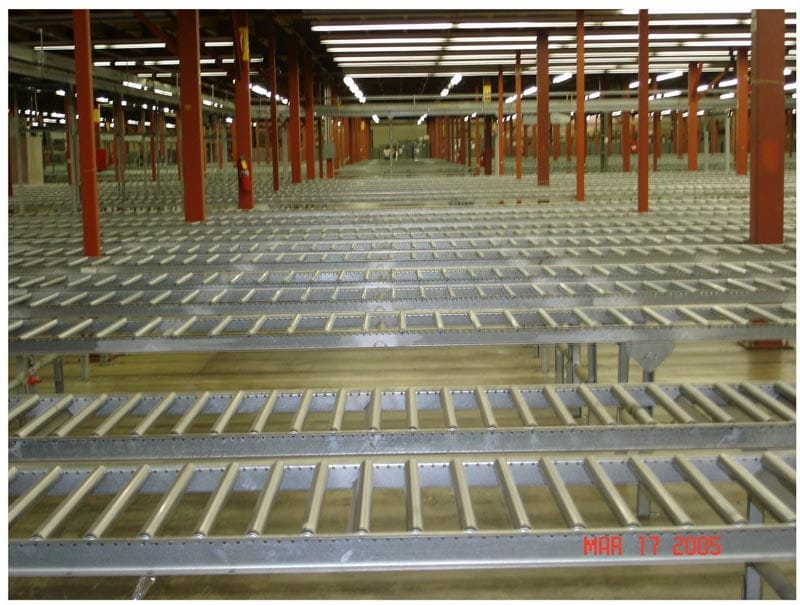 Gravity Roller Conveyor 6 inches on Center