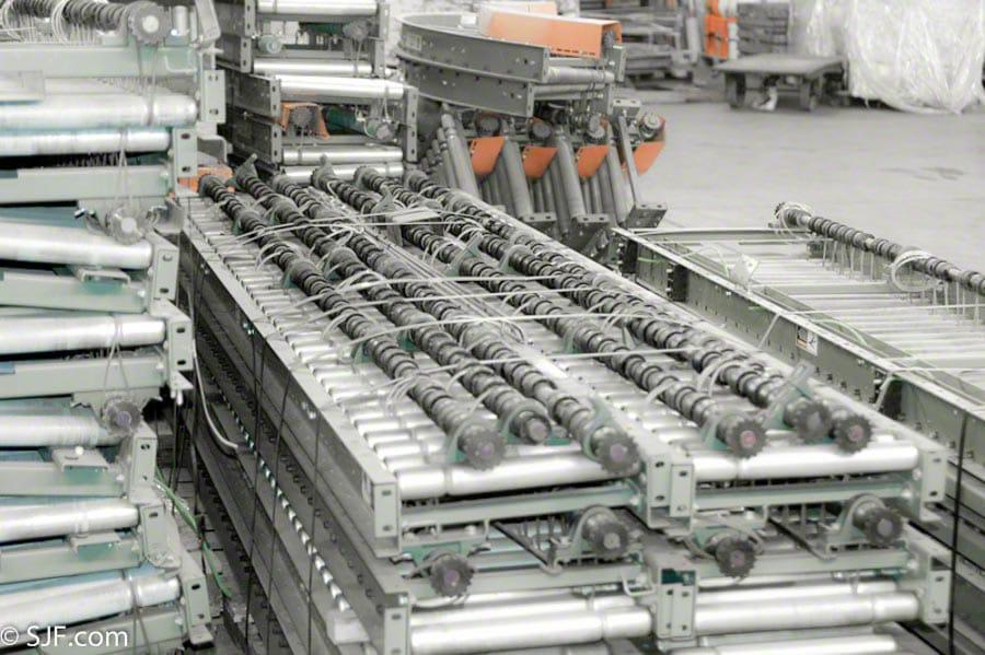 Hytrol Used Lineshaft Bundled for Shipment