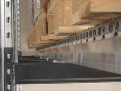 A Pallet Rests on the Maximum Density Flow Rails