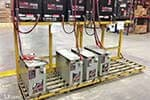 Industrial Forklift Battery Rack