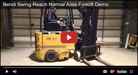 Bendi Narrow Aisle Swing Reach Forklift