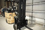 Bendi Swivel-Front Narrow Aisle Forklift Truck - Front View
