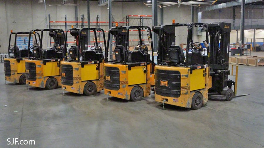 Bendi Swivel Front Forklifts - Rear View