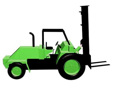 All Terrain Forklift Infographic