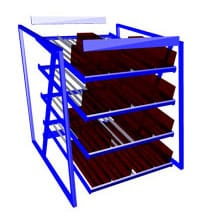 Carton Flow Rack Assembly