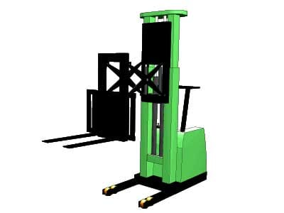 Scissors Reach Forklift