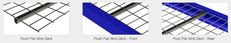 Wire deck flush flat comparison