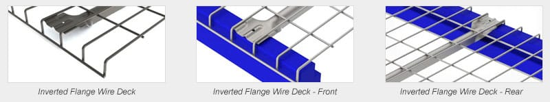 Wire deck inverted flange comparison