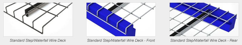 Wire deck standard step waterfall comparison