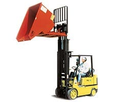 Self Dumping Hopper with Forklift